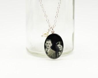 Custom Photo Necklace   Custom Photo Pendant   Mothers Day Jewelry   Anniversary Jewelry   Keepsake Necklace   Memorial Jewelry