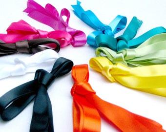 Satin Ribbon Bright Spectrum Shoe Laces  - Tennis Shoe Length Shoelaces - 55 Inches - Choose Your Color