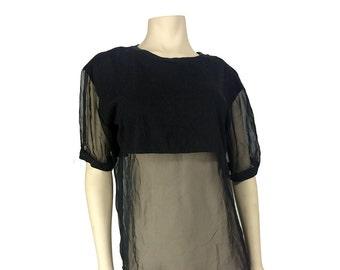 90's Spoiled Girls Sheer Panel T-Shirt  - Medium