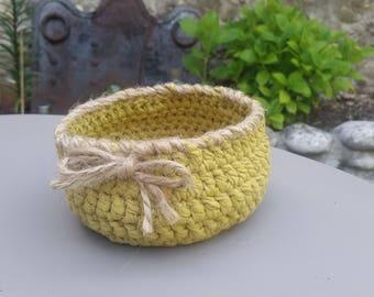 Little cotton basket - storage and decoration