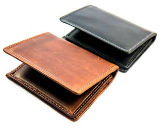 SLIM DESIGN BIFOLD leather wallet