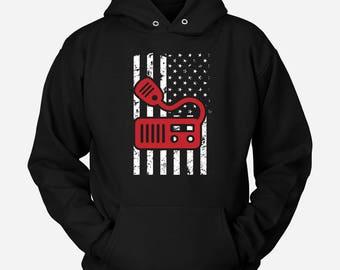 Ham Radio Hoodie USA Flag Ham Radio Gift T-Shirt Ham Radio Operator Sweater