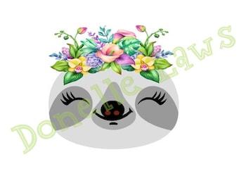 Sloth Print N cut file