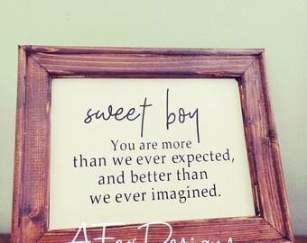 Sweet Boy/Girl Sign