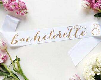 Bachelorette sash -Bride-To-Be Sash with Diamond Ring - bachelorette party accessory - bachelorette sash - bride to be sash