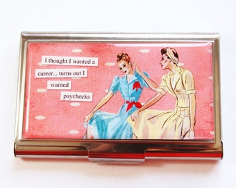 Business Card Case, Funny Card Case, Humor, Funny Business Card Case, Card case, business card holder  (3003)