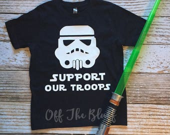 Support Our Troops Storm Trooper Kids Shirt