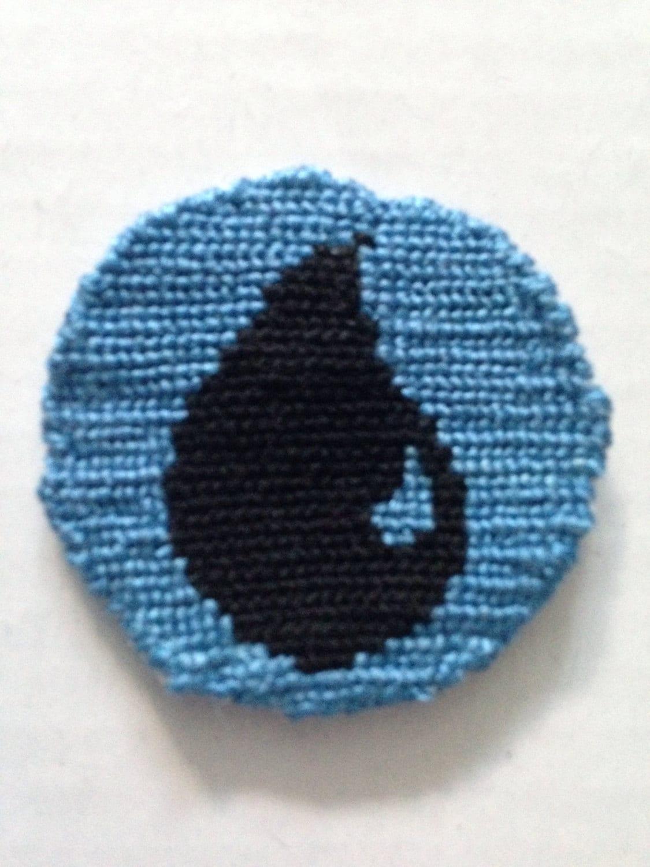 Mtg mana symbol island tokennecklacebuttonpatch zoom biocorpaavc