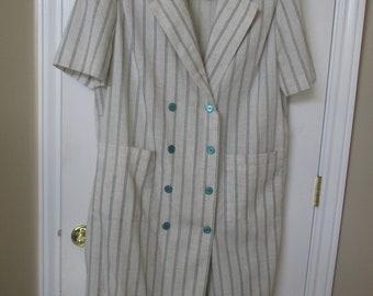 Womens dress Leslie Fay II dress plus size 20 pin stripe sheath style dress