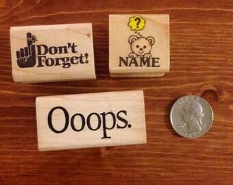 Words Rubber Stamp Set