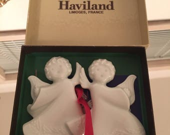 Vintage Haviland Christmas Angels Ornaments The Harp Angels Haviland Limoges
