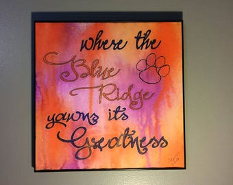 Clemson Art // Dorm Decor // Clemson Office Gift // Clemson Gift // Clemson Quote // Clemson Decor // Clemson Wall Art // Graduation Gift