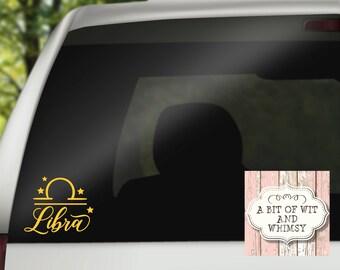 Zodiac Signs / Gifts Libra Zodiac / Libra / Vinyl Decal / Car Decal / Laptop Decal / Mirror Decal / Tumbler Decal