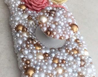 Swarovski Pearl iPhone X Case with Pop Socket