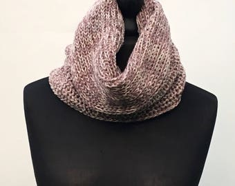 The Claire Cowl, knitted cowl, wrist warmers, chunky knit, snood