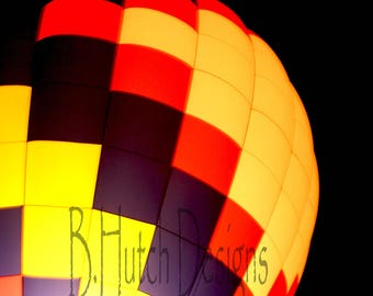 Hot Air Balloon Photography,  Balloon Glow, Print Digital Download,  Wall Art, Hot Air Balloon Photo, Home Decor