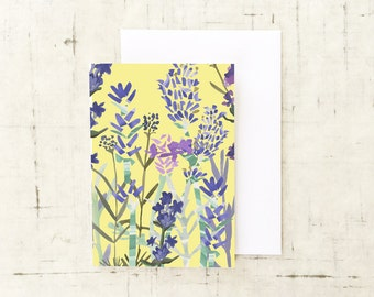 Lavender Greeting Card, Wall Art, Art Prints, Herbal Remedies, Nature Lover, Thank You Cards, Notelets, Floral Prints, Blank Greeting Cards