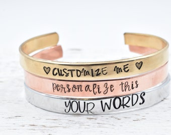 Custom Bracelet Hand Stamped Coordinate Bracelet. Gift for Her Best Friend Gift. Personalized Jewelry Engraved Bracelet Bridesmaid Gift Idea