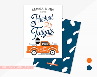 Tailgate Couples Shower Invitation | Football Bridal Shower | Printable Digital Tailgate Invitation | I do BBQ Invitation | 5X7