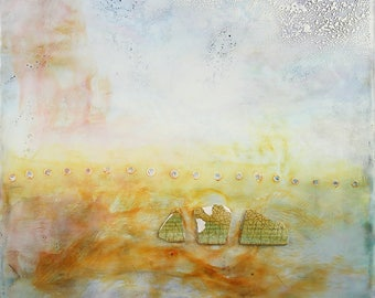 Encaustic Painting - That Was My Favorite Pot