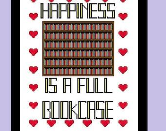 Happiness Cross Stitch Pattern PDF Digital Download