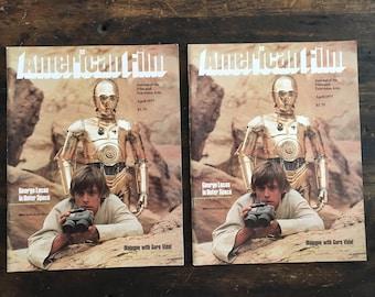 Lot of Two (2) April 1977 American Film Star Wars Magazines / 1st Star Wars Cover / Luke Skywalker / C3PO / George Lucas / Princess Leia