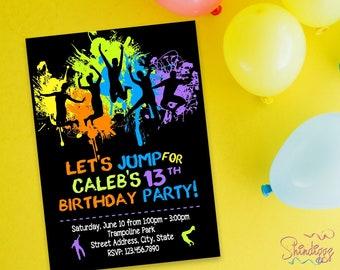 Trampoline Jump Invitation, Trampoline Jump Birthday, Trampoline Jump Invite, Trampoline Jump Printable Digital, Trampoline Jump Invitation