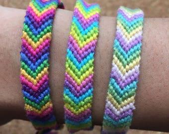Rainbow Chevron Friendship Bracelets