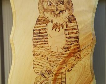 Owl On A Limb Woodburning
