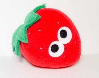 Strawberry - Plush Strawberry - Plush Food - Stuffed Food - Plush Berry - Gift For Kids - Anthropomorphic - Kawaii Plushie - Fraise - Plush