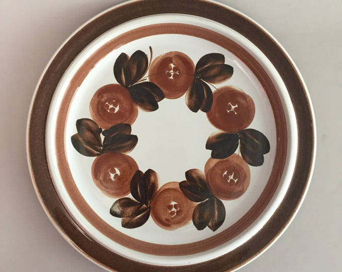 "Vintage Arabia Finland ""Anemone"" Large Serving Platter by Ulla Procope Hand Signed Brown Large Serving Plate"