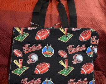 Football Themed Printed Fabric Diaper Bag