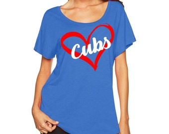 Chicago Cubs - Heart Scoop Neck