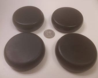 MASSAGE STONE SETS - Round Basalt - Large - 7 cm diameter - Shaped and Polished Stones