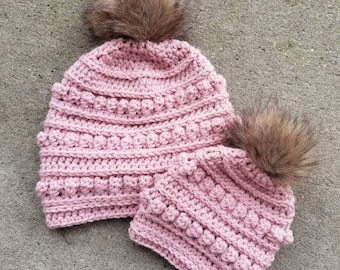 READY TO SHIP mommy and me hat set