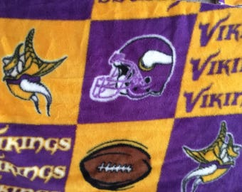 Vikings football fleece fabric sold by the yard free shipping