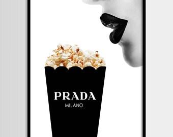 Prada drucken, moderne print, Mode, Prada, minimalistisch, digitale Kunst, Pop Mais, Printable, Digital-Druck-Instant Download 11 x 14, 16 x 20