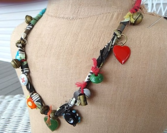Necklace with Charms and Beads