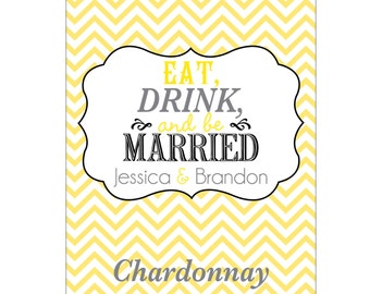 56 - 2x2.67 inch Custom Wedding Rectangle or Mini Wine Bottle Labels - hundreds of designs - change designs to any color, wording etc WN024