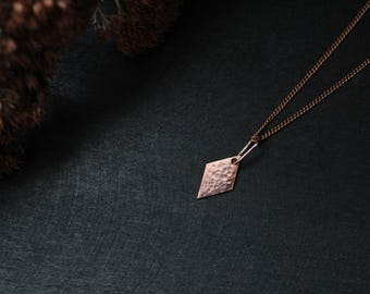 Copper jewelry Copper necklace Simple jewelry Simple necklace Delicate necklace Delicate pendant necklace gift for coworker gift ideas