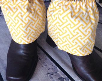Sock Protectors, Sock Guards, Spats, Sock Savers, Work Boot Protectors, Yellow.