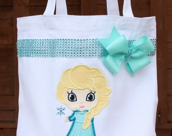 Personalized Elsa Frozen Autograph Pin Library Book Tote Bag - Disney Frozen Anna Olaf