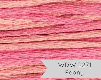 Weeks Dye Works Embroidery Floss | Hand Over-Dyed 6-strand Embroidery Thread - Peony (2271) | Hand Embroidery, Cross Stitch