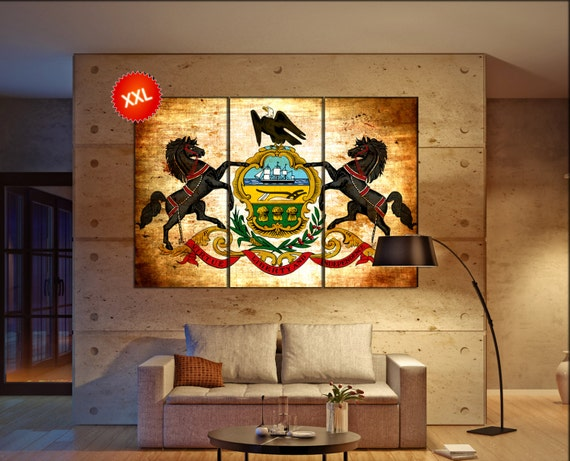 pennsylvania state flag  canvas pennsylvania state flag wall decoration pennsylvania state flag canvas art large canvas