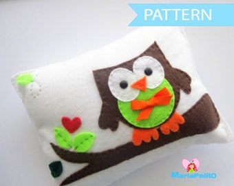 Owl Pillow Pattern,  Owl Pillow, Sewing Pattern, Baby Owl Pillow Pattern, Pdf Pattern, Felt Pillow,  Craft Project A874