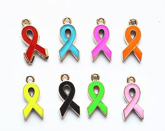 10*21mm plastic ribbon,ribbon pendant,Awareness Charms free shipping