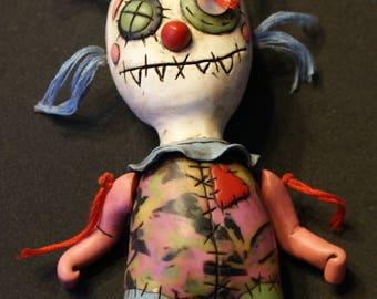 Grungy Clown Art Doll, OOAK