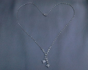 Vintage Rhinestone Necklace: Perfect Something Old for Bride