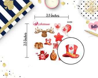 Canada Day Stickers - Maple Syrup - Beaver Stickers - Maple Leaf - Oh Canada - Planner Stickers - Happy Planner - Life Planner