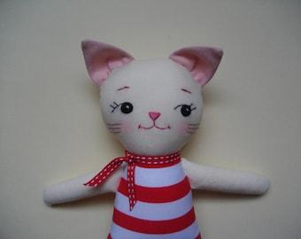 Mini French Kitty - Handmade cloth doll Cat plush toy Kawaii Plush